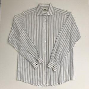 Mens Hermès White and Lavender Dress Shirt